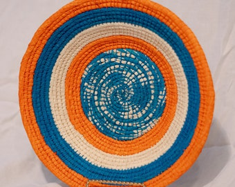 Peruvian Chambira Basket - Handmade, tricolor design - w/3 color options