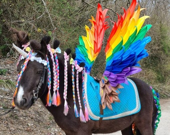 Horse Pegasus, Rainbow Pony Wings, Photo Accessories Horse Wings, Pegasus Pony Wings, Pony Wings, Durable + Easy to Attach