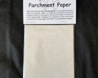 Spell Work Parchment Paper