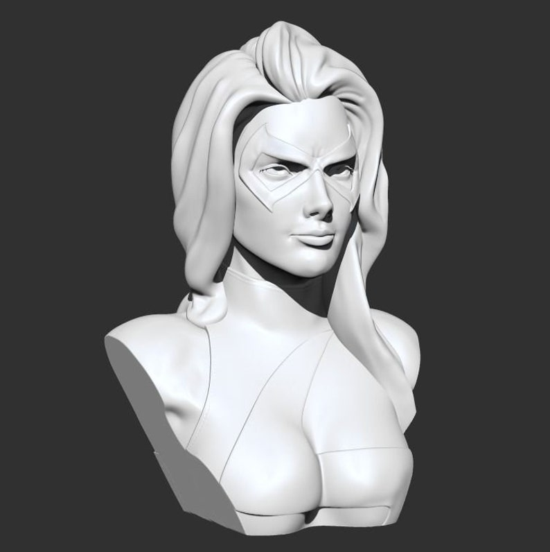 Ms Marvel Sculpture 3D Printed Figure Painted or Unpainted Collectors Gift
