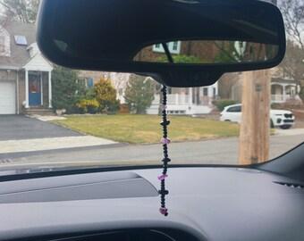 Mirror Charm Rear View Mirror Charm Black Onyx Yoga Charm Car Decoration Dragon Car Charm Car Accessories Car Crystal Yoga Style