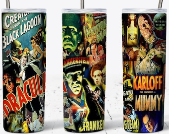 Classic Old Horror Movie 20 oz. Stainless Steel Custom Tumbler