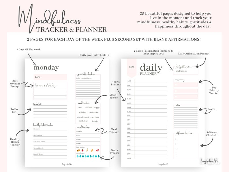 Mindfulness Tracker & Planner is a Self Care product for image 0