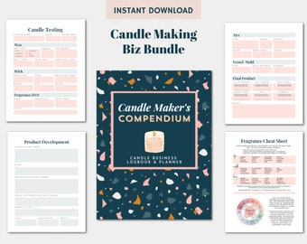 Candle Making Business Bundle Printable: Candle Testing Printable | Candle Making Kit Digital Download PDF Planner | Candle Maker Logbook