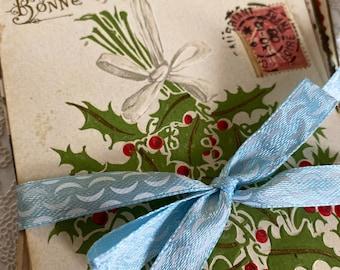 Happy New Year, Bonne Année, 15 vintage flower postcards, French, crafting, scrapbooking, journals, vintage paper