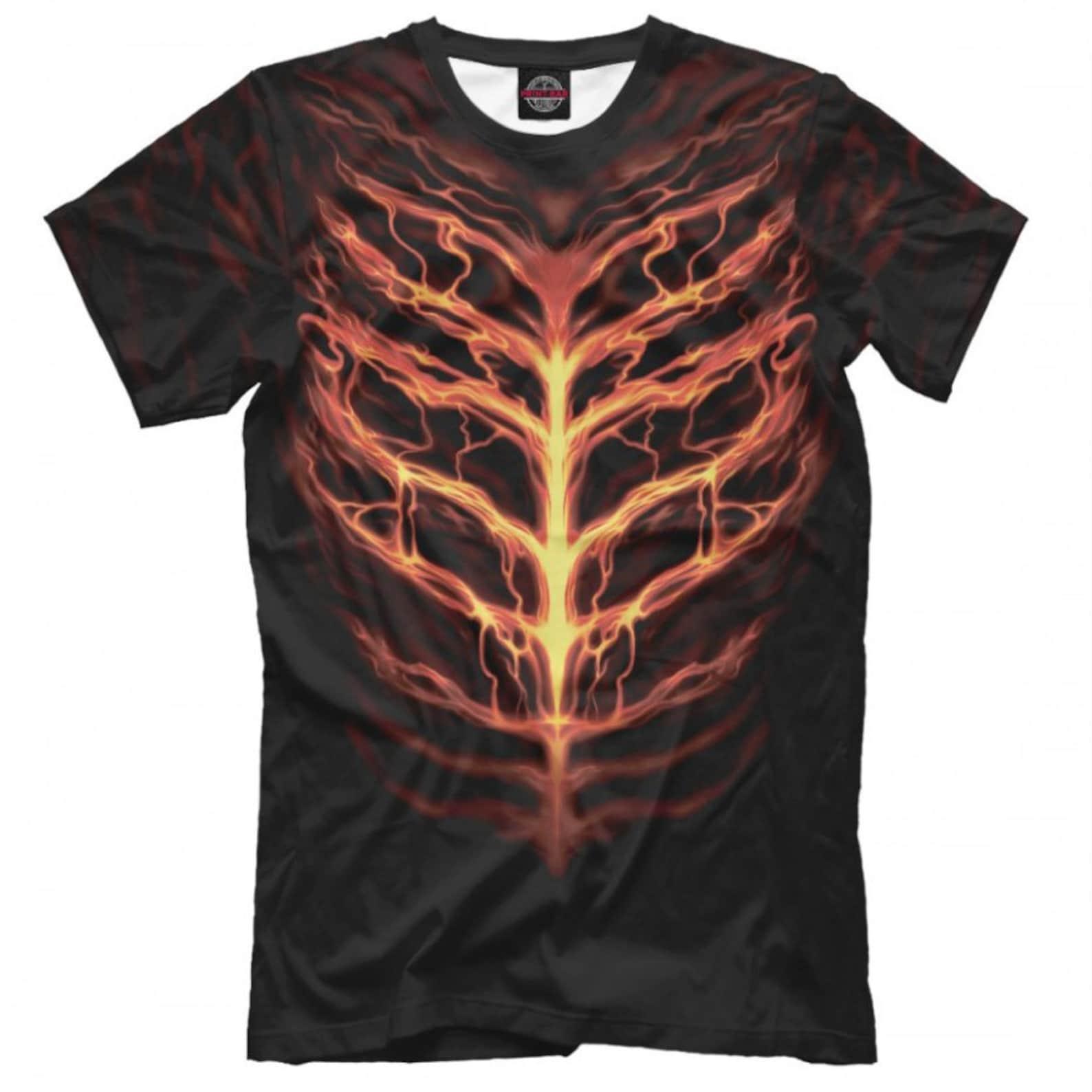 Feurige Brust Grafik T-Shirt Herren Damen alle Größen   Etsy
