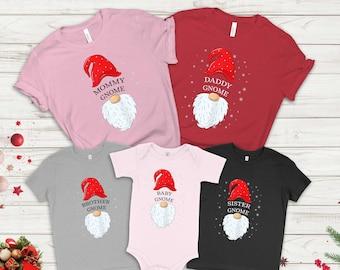 Custom Gnome Family Christmas T-shirt, Christmas Shirt, Gift For Christmas, Custom Cute Gnomes Shirt, Personalized Xmas Gnomes