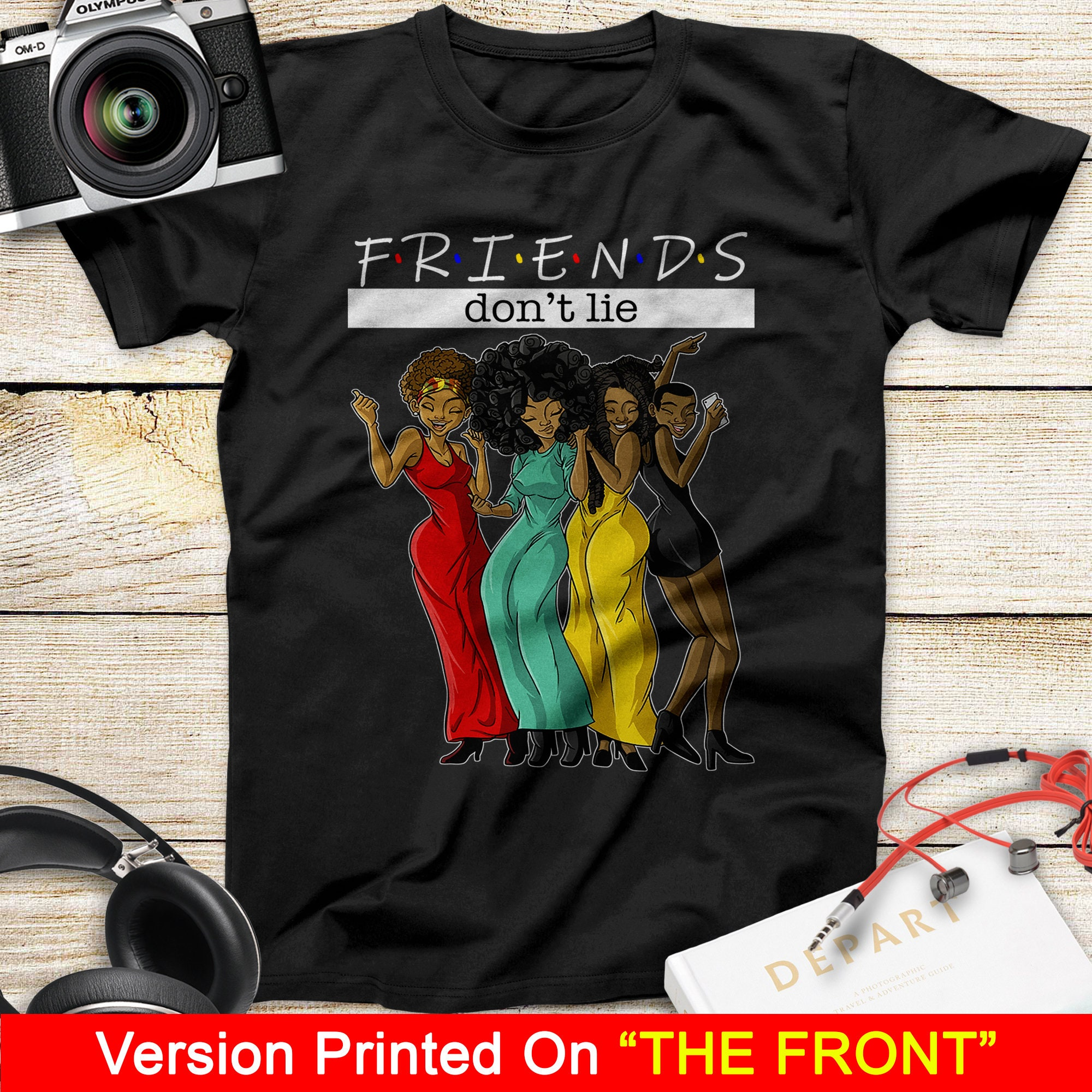 Freunde nicht lügen Shirt schwarze Sendeshirt schwarz lebt
