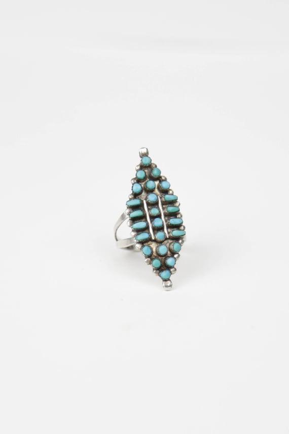Vintage Zuni Turquoise Ring, Native American, Vint