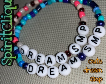 Minecraft DREAM SMP MCYT Cute Colorful Hippie Beaded Bracelet