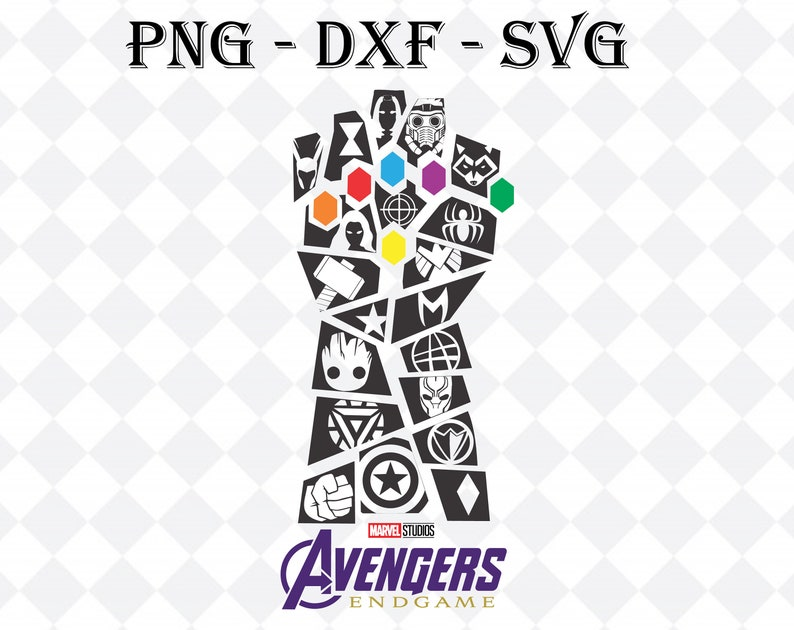 digital png Silhouette dxf File for cut Cricut clipart Avengers thanos endgame svg