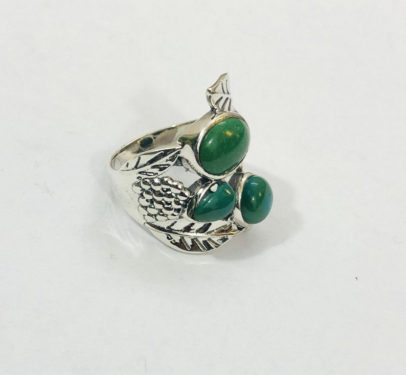 Fashionable Ethnic 925 Silver Ring With Turquoise Stone 925 Silver Rings Modern 925 Sterling Silver Jewelry Boho Earrings