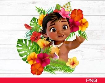 PNG Moana Birthday Girl Png Digital File, Birthday Girl, Digital Files, Moana family bundle, T-shirt Baby Moana Birthday Girl Png