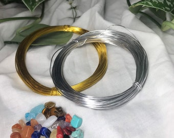 Make your own ring crystal jewellery set kit silver