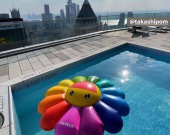TAKASHI MURAKAMI Rainbow Flower pool float