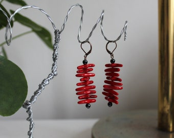 Dreadschmuck Dreadlockschmuck from Bronze wire with real pearl of red coral Dreadperle Rast ash Muck Red Coral