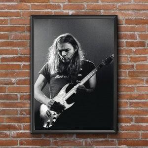 David Gilmour Vintage Classic Art Rock Music Black Ceramic Coffee Tea Mug