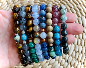 Custom Crystal Bracelet // Personalized Crystal Healing // Choose Your Crystal Beads // 100% Natural, Sustainable, High Quality Crystals