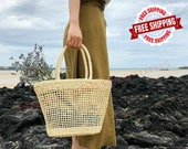 Hand-woven Rattan Bag - Rattan Shoulder Bag - Wicker Baskets - Shopping Bags - Retro Style Women Bag - Eco-friendly Bag - Reusable Tote Bags
