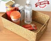 Handmade Rattan Storage Baskets - Household Items - Snacks Fruit Debris Laundry Finishing Willow Storage Kitchen Basket - Woven Rattan Boxes