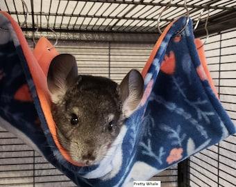Ferret Rat Halloween Chinchilla 13 x 13 Chinvilla Hanging Fleece Hammock