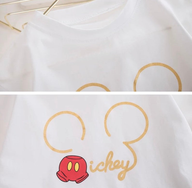 Baby Boy Girl Summer Sets Cotton Infant Children Clothes Cartoon Print Costume for Kids 1 2 3 4 Years Short Outfits 2 Pieces Disney Mickey