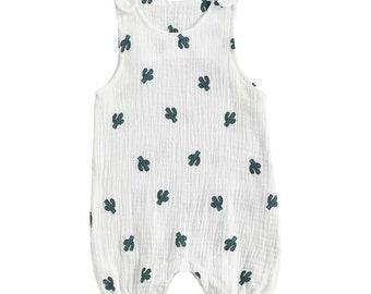 New Baby Fashion Sleeveless Print Romper Stylish Romper for Kids Children Boys Girls Cactus