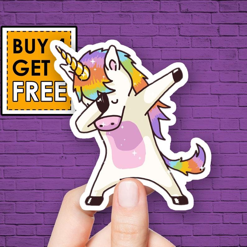 Unicorn Sticker Funny Sticker Rainbow Dab Stickers Laptop Stickers Waterbottle Sticker Aesthetic Stickers Laptop Decals Vinyl Stickers