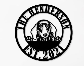 DACHSHUND Street Sign dog lover great owner pet Indoor//Outdoor