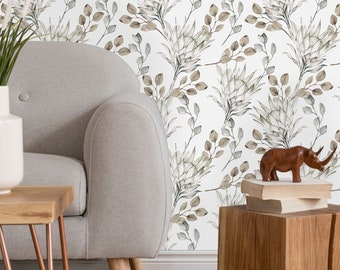 Light Protea Flower Removable Peel and Stick Wallpaper