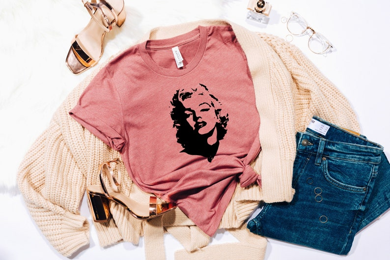 Mothers Day Gift Gift For Her Vintage Marilyn Monroe Tshirt Marilyn Monroe Portrait Shirt Marilyn Monroe Shirt Marilyn Monroe Fun Shirt