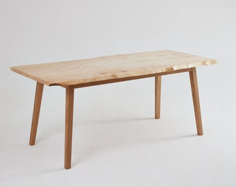 ContrastFurniture - The Sherwood Dining Table - Book matched Top-  Beautiful Wooden Furniture with a Lifetime Guarantee