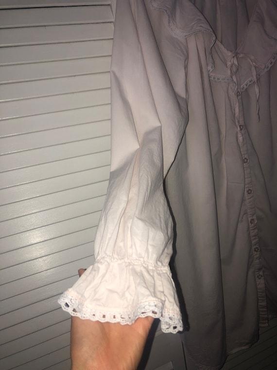 Laura Ashley cottagecore cotton nightgown | pink … - image 3