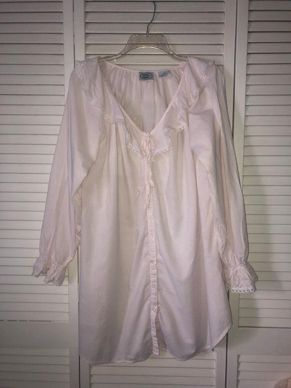 Laura Ashley cottagecore cotton nightgown | pink … - image 1