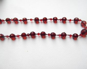 Superb Art Deco Amber Hand Knotted Long Necklace Over 27 Inches Long.
