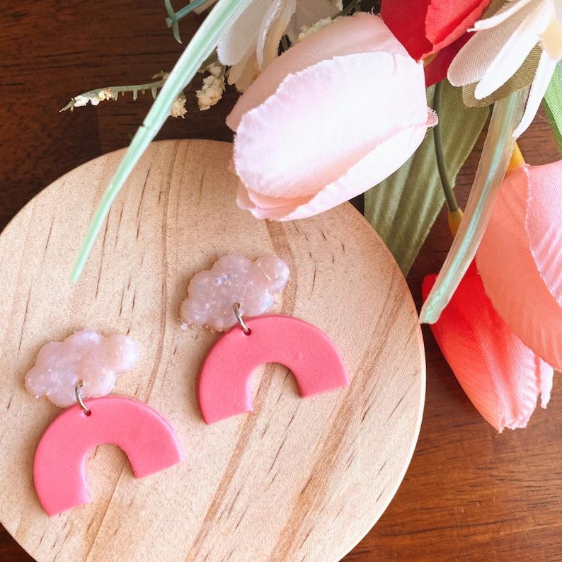 Pink Arch Earrings