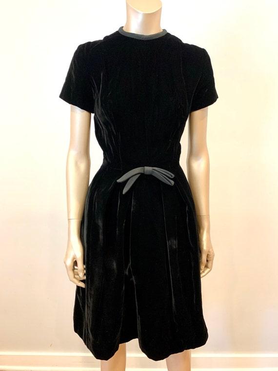 Vintage 1960s I. Magnin Velvet Dress - image 7