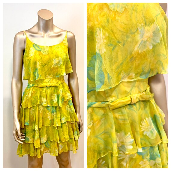 Vintage 1960s Chiffon Dress - image 1