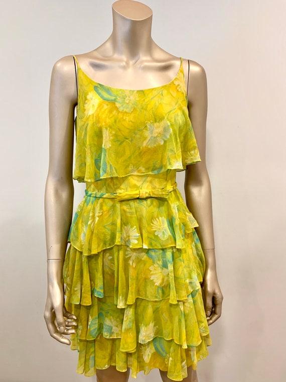 Vintage 1960s Chiffon Dress - image 7