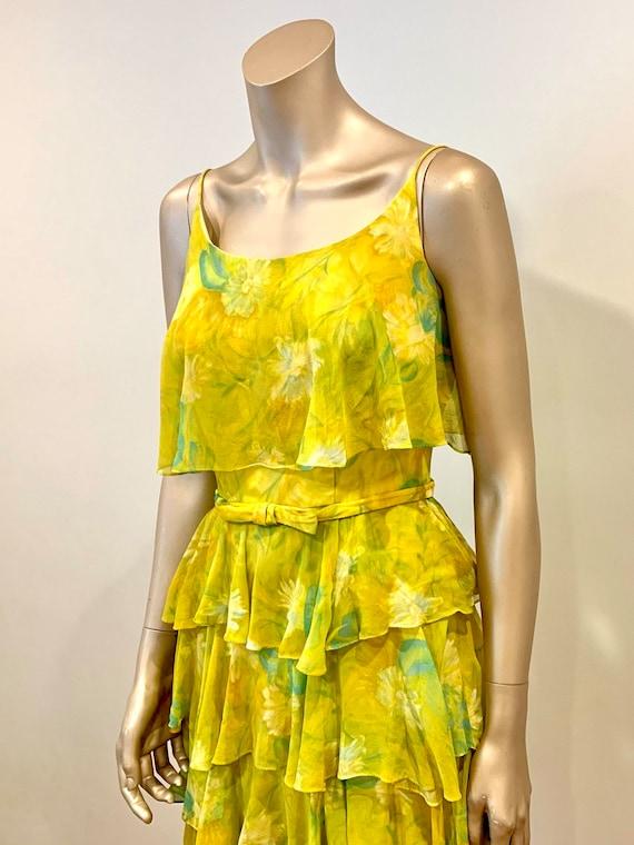 Vintage 1960s Chiffon Dress - image 3