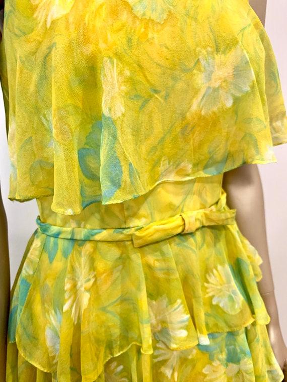 Vintage 1960s Chiffon Dress - image 8