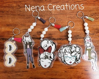 Laminated keychain for purse