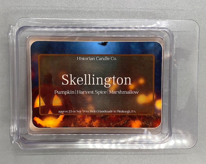 Skellington–approx. 2.5 oz. Scented Soy Wax Melts