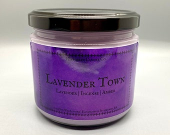 Lavender Town–10 oz. Soy Wax Scented Candle