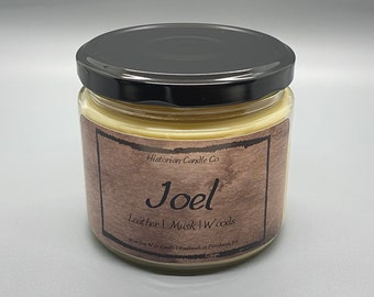 Joel–10 oz. Soy Wax Scented Candle