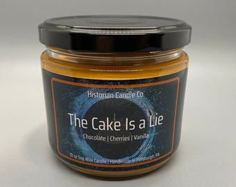 The Cake Is a Lie–10 oz. Soy Wax Scented Candle