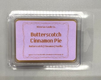 Butterscotch Cinnamon Pie–approx. 2.5 oz. Scented Soy Wax Melts