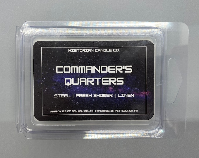 Commander's Quarters–approx. 2.5 oz. Scented Soy Wax Melts