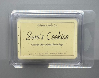 Sera's Cookies–approx. 2.5 oz. Scented Soy Wax Melts