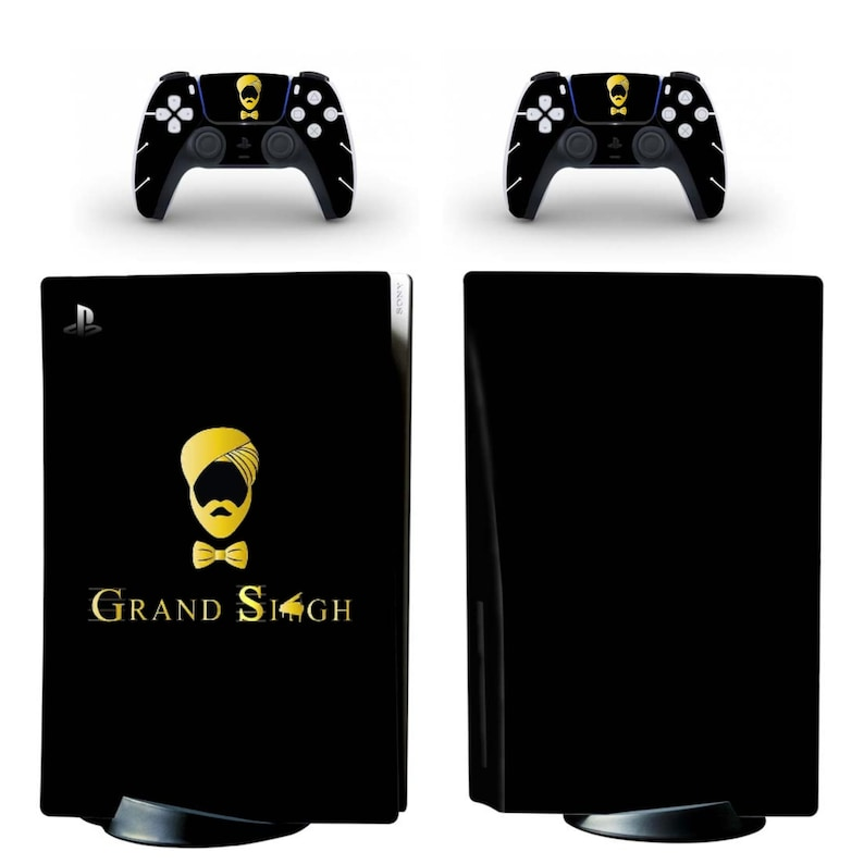 UK Based Fully Customisable PS5 vinyl sticker skin for console and two controllers
